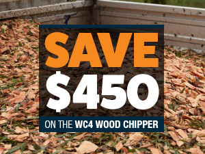Save $450 on the Angry Ant 4inch wood chipper